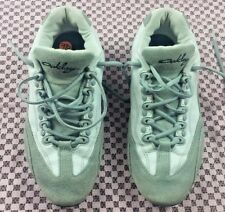 Oakley 96548 White Grey Leather Shoes Womens size 9.5 Nubuck #S312