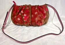 NWOT RARE Follie Follie Bag PINK/ BROWN SHEER GEOMETRIC CONFETTI Crossbody SP