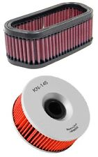 K&N Motorcycle Air Filter + Oil Filter Combo YA-1400 + KN-146