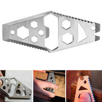 EDC Multi Tool Opener Wrench KeyChain Outdoor Survival Camping Pocket Tool  HF