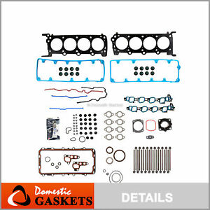 Full Gasket Bolts Set Fits 2009-2011 Ford Crown Victoria Lincoln Mercury 4.6L V8