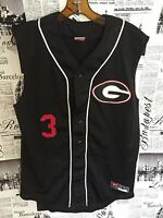 Vintage Nike UGA Football Georgia Bulldogs Black Mesh Vest #3 Jersey Large L