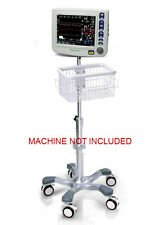 Rolling Roll stand for CSI Criticare 8100H nCompass monitor (big wheel), NEW