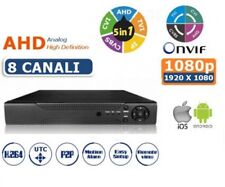 DVR IBRIDO NVR HVR AHD 8 CH CANALI FULL HD 1080P CLOUD 3G WIFI IOS ANDROID TVI P