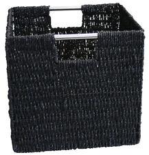 KMH® Schrankkorb Regalkorb Körbe Aufbewahrungskorb Kiste Korb schwarz Seegras