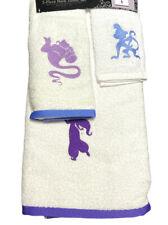 New Disney Aladdin 3 Piece Bath Towel Set - Htf New