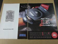 SEGA CDX Console CD Original 1992 Print Ad Poster Authentic Artwork Promo