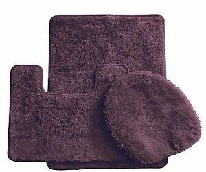 3 Piece Ultra Spa Bath Mat Bath mat,Contour rug, Lid cover.(Browen)