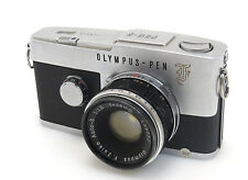 Olympus Pen F #138654 Half frame Auto S 1,8/38 #139777 Flash  Balgen Hood is021