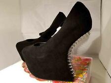 Jeffrey Campbell Night Nail Mary Janes Platform Heels Black Suede US9/EU39 NIB!
