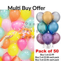 50 X Latex PLAIN BALOON BALLONS helium BALLOONS Wedding Quality Party Birthday