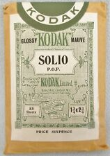 VINTAGE KODAK LIMITED GLOSSY MAUVE SOLIO BROWN PAPER PACKAGING PHOTOGRAPHIC