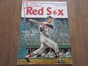 1967 Boston Red Sox vs Cleveland Indians Program (2nd Edition)