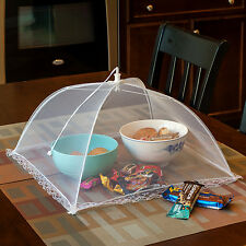 Set of 2 Large Pop-Up Mesh Screen Protect Food Cover Tents Dome Umbrella Picnic