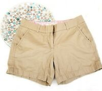 J Crew Womens Shorts Size 2 Beige Khaki Broken In Chino Classic Twill o1050