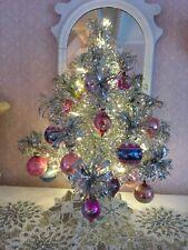 ViNtage~2 Foot ~ Evergleam Aluminum Christmas Tree ~ Tinsel ~ Orig Box !