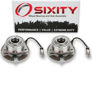 Pair (2) Front Wheel Bearing Hub Assembly for Pontiac Torrent 2006 Left pm