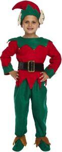 Fancy Dress Child Elf Small 4-6 YRS - Kids Costume