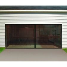 Double Garage Screen Door, Heavy Duty, Magnetic Closure, Rolls Up for Storage