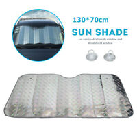 Car Windscreen Sun Shade Heat Reflective Visor Front UV Shield 130X70cm AU