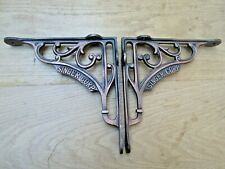 "PAIR OF 8"" SINGER CORP cast iron vintage Industrial cistern shelf bracket"