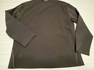 Mens Lululemon Lab Black Pullover Jacket Running Size 2XL XXL