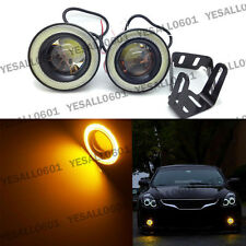 "2pcs Amber 2.5"" COB LED Projector Lens Angel Eye Ring Halo Fog Driving Light SUV"