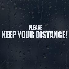 Por favor, mantenga la distancia coche decal Vinilo Adhesivo Para Ventana De Parachoques Panel