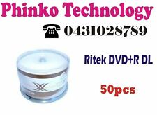 * New Ritek DVD+R DL DUEL/Double Layer 8.5GB 8X 50pcs Original Factory