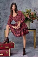 NWT $275 JADE Johnny Was Sz L Floral ETTA Mini Dress
