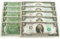 """(10) Two Dollar Bill $2 Notes, 2013 """" ATLANTA """" Consecutive, free shipping"""