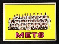 """1967 Topps #42 New York Mets Team Photo Vintage Baseball Card  """"mrp""""  EX+"""