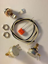 Wiring Harness Kit For P Bass 500k Cts 450G Knurled Pots .047uf Orange Drop Cap