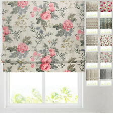 Patterned Roman Blinds - Fully Lined - Deluxe Cassette Headrail Available