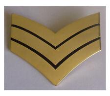 Gold Sergeant Stripes - chevrons large metal pin badge  - Sgt Stripes