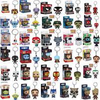 67 Styles Disney Funko POP Pocket Keychain Mini Vinyl Action Figures With Box