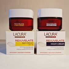 Lacura rejuvenate anti-wrinkle face day spf 30 & night cream twin pack 2 x 50 ml