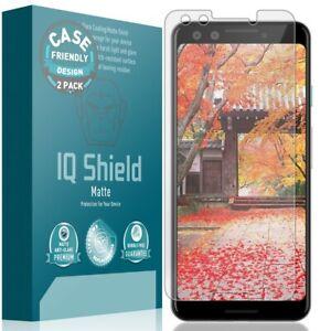 2x IQ Shield Anti-Glare Screen Protector for Google Pixel 3 (Case Friendly)