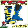 STIVALI BOOTS MOTO MX CROSS ENDURO TCX X-BLAST BLUE YELLOW FLUO BLU GIALLO 42