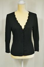 NICOLE by Nicole Miller Women's Black 3/4 Sleeve Button Front Cardigan - Size L