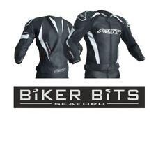 Blousons noirs en cuir pour motocyclette taille XL longueur taille