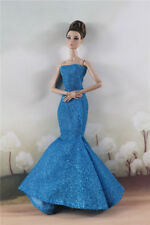 Fashion Party  Blue Fishtail Skirt  Mermaid DressGown For 11 inch. Doll