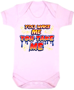 Baby One Piece Baby Bodysuits Baby Rompers Jumpsuits YOU WAKE ME YOU TAKE ME