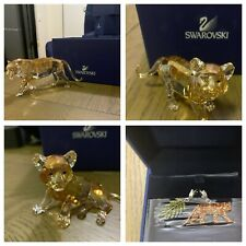 SWAROVSKI SCS 2010 ENDANGERED WILDLIFE TIGER FAMILY-WITH CHARMS -MINT CONDITION