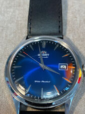 Orient Bambino 2 Watch Blue modded Hands from Seiko Cocktail Time SARB065