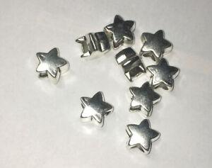 Metall Beads Bohrung 4,5mm Spacer , Großloch Perle Stern 2 o.5 Stück