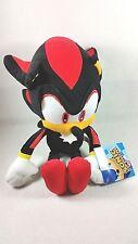 """Sega Sonic The Hedgehog Video Game 12"""" Shadow Black Plush Stuffed Figure Doll"""