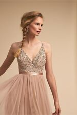 BHLDN Avery Formal Gown, Size 4, Color: Blush