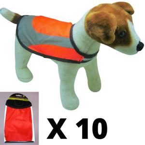 Hi Vis Dog Vest Coat Jacket Water Resistant Hi Viz Safety Reflective Small 10pcs