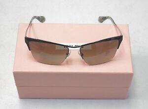 Miu Miu Sunglasses MU50PS MU 50PS GAQ4M1 Black Ruthenium Grey NEW! 31513